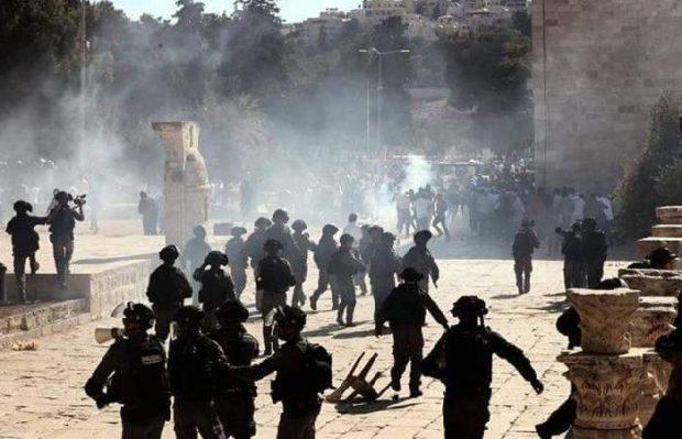 التجمع يدين العدوان الصهيوني على المصلين في المسجد الأقصى